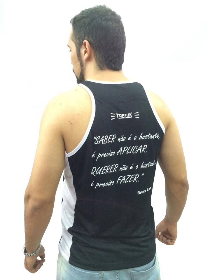 Camiseta Regata - Bruce Lee - Preto/Branco - Toriuk  - Loja do Competidor