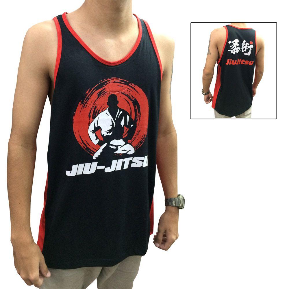 Camiseta Regata  Jiu Jitsu - Master - Preto/Verm - Toriuk