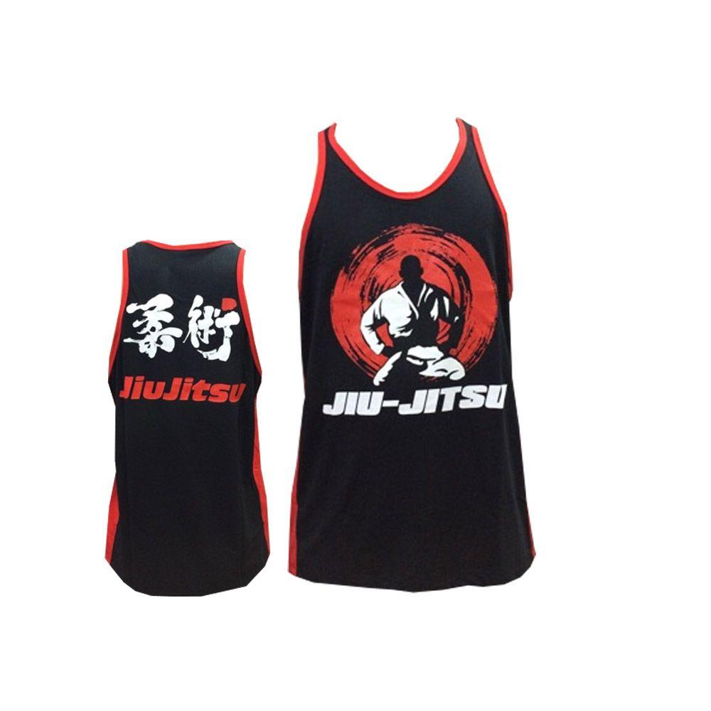 Camiseta Regata  Jiu Jitsu - Master - Preto/Verm - Toriuk  - Loja do Competidor
