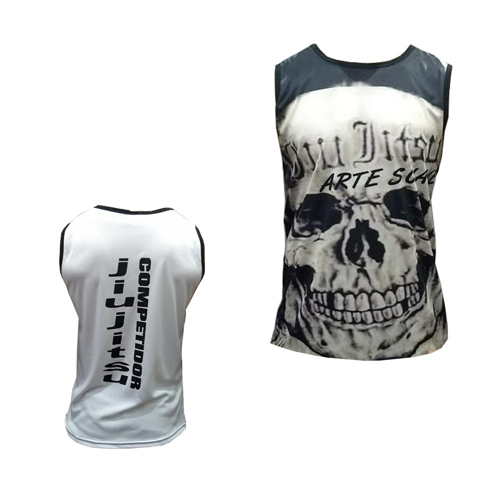 Camiseta/Regata - Jiu Jitsu Skull - Duelo Fight