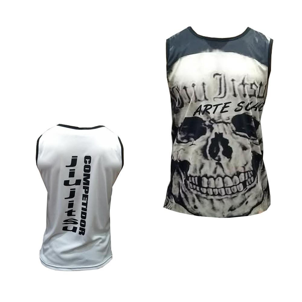 Camiseta/Regata - Jiu Jitsu Skull - Duelo Fight .