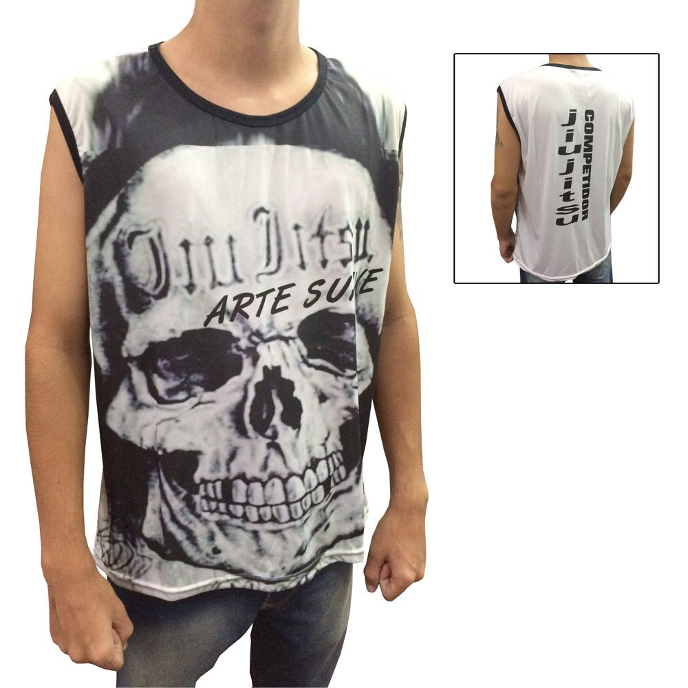 Camiseta Regata Jiu Jitsu Skull - Duelo Fight