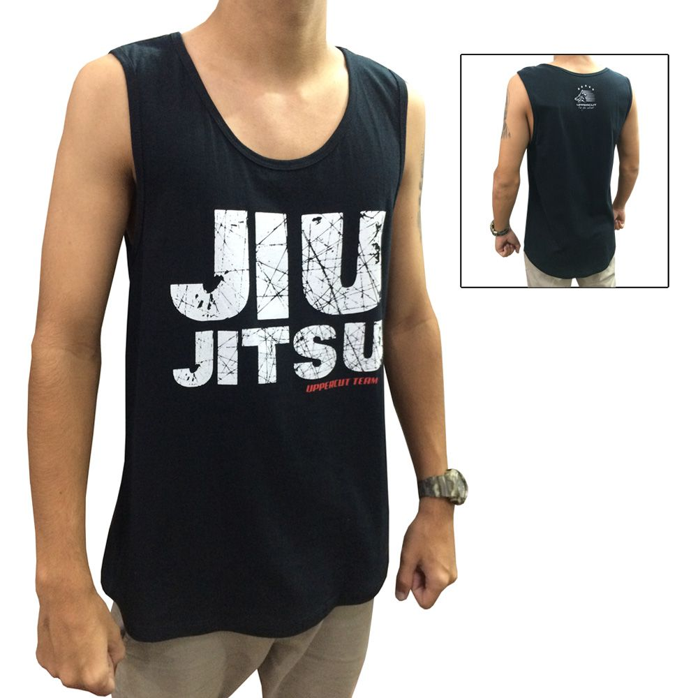 Camiseta/Regata - Jiu Jitsu Uppercut Team - Preto/Branco - Uppercut .