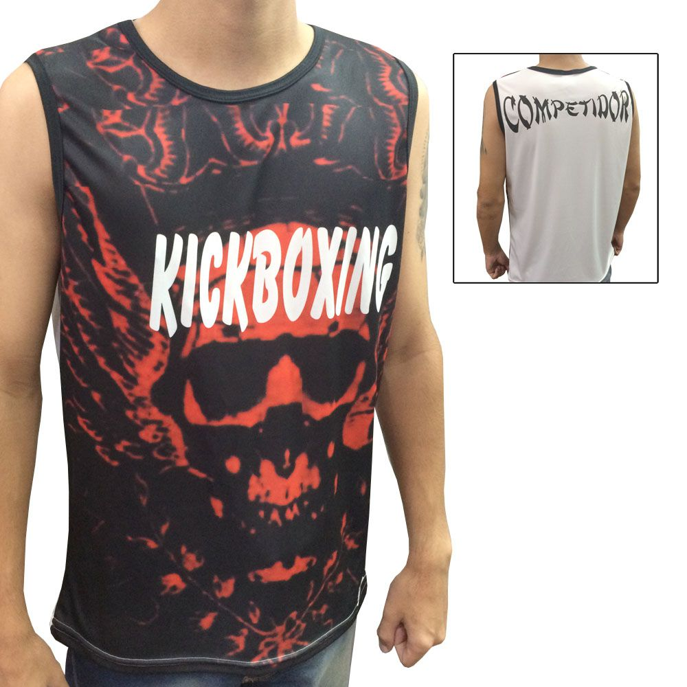 Camiseta/Regata - Kickboxing- Blood - Duelo Fight .  - Loja do Competidor