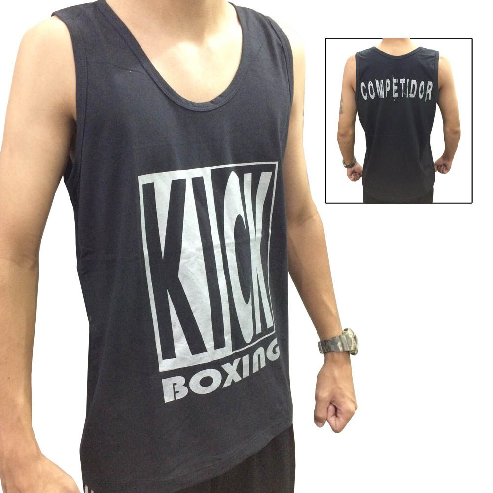 Camiseta Regata Kickboxing Full Contact - Preto - Duelo Fight