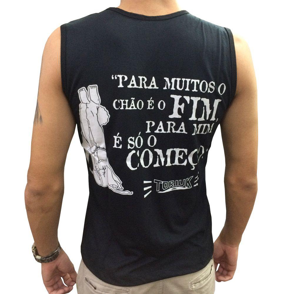 Camiseta Regata - Machão - Jiu Jitsu - Vem pro Chão  - Loja do Competidor