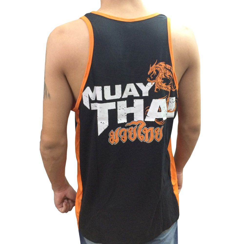 Camiseta/Regata - Muay Thai Dragon Spirit - Preto/Laranja-  Toriuk .  - Loja do Competidor