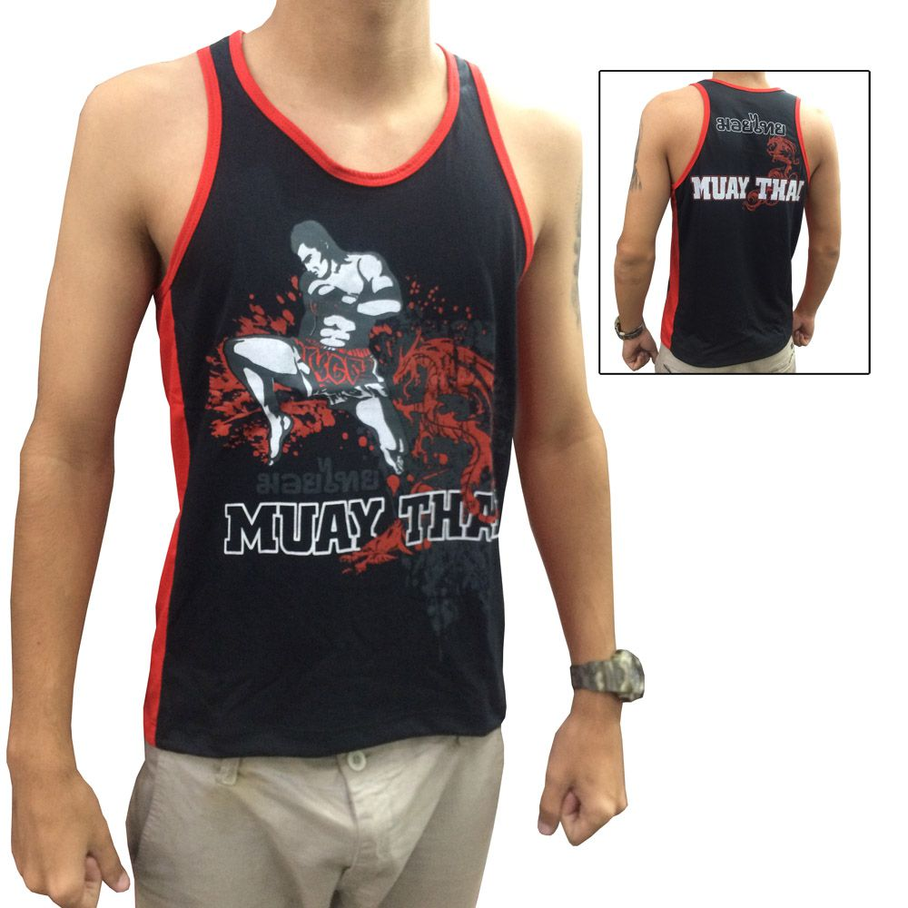 Camiseta Regata - Muay Thai Jumping Knee - Toriuk -