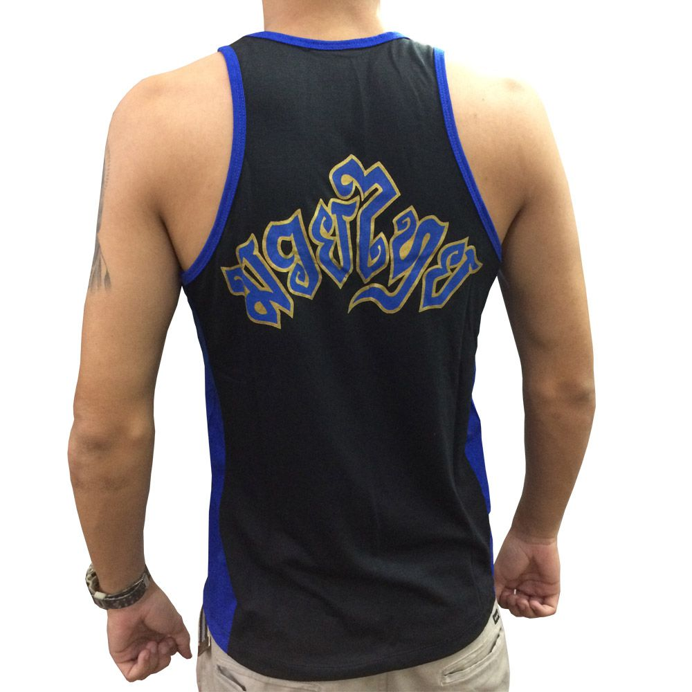 Camiseta/Regata -Muay Thai - The Kicks - Preto/Azul - Toriuk  - Loja do Competidor