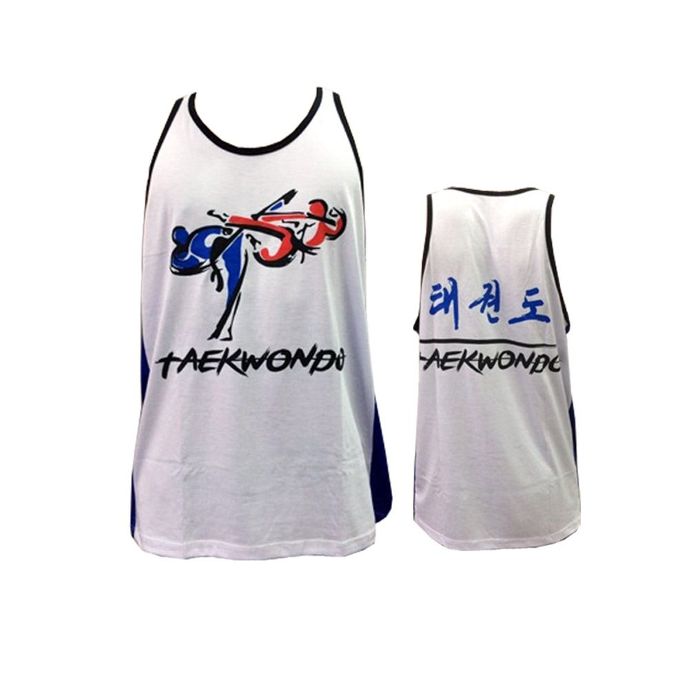 Camiseta Regata - Taekwondo - Kyorugi - Branco/Azul- Toriuk