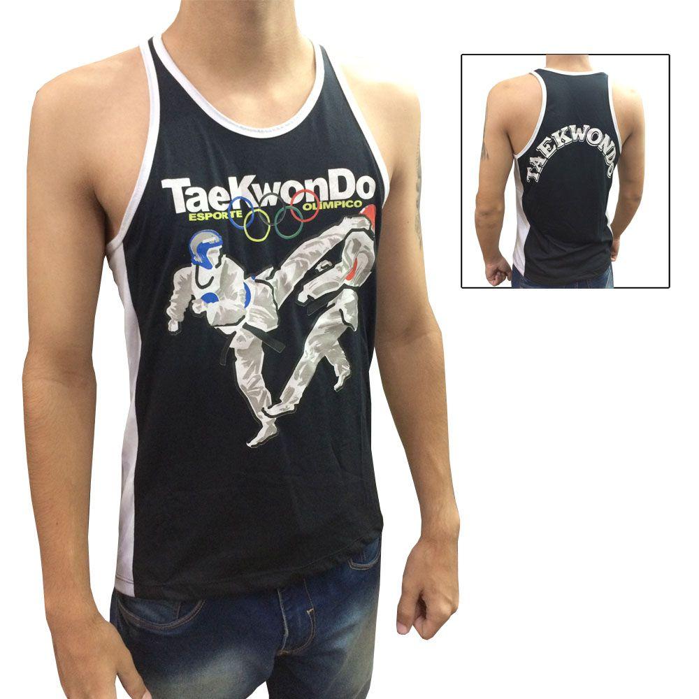 Camiseta/Regata - Taekwondo Olímpico - Preto/Branco - Toriuk