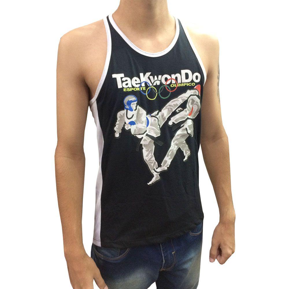 Camiseta/Regata - Taekwondo Olímpico - Preto/Branco - Toriuk  - Loja do Competidor