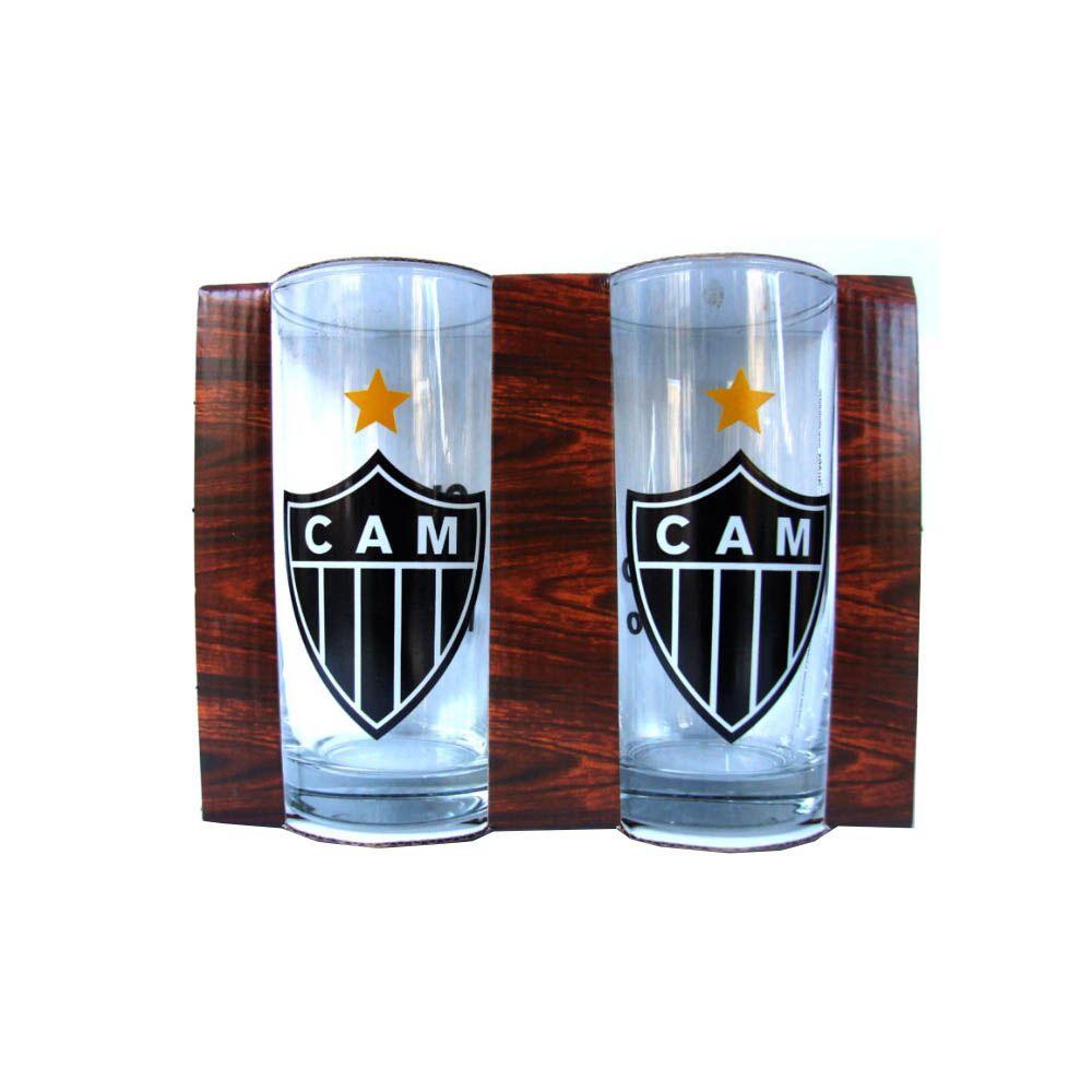 Caneca Copo Clubes - Long Drink - Atlético Mineiro - 350 ml - 2 Unidades - Pentagol