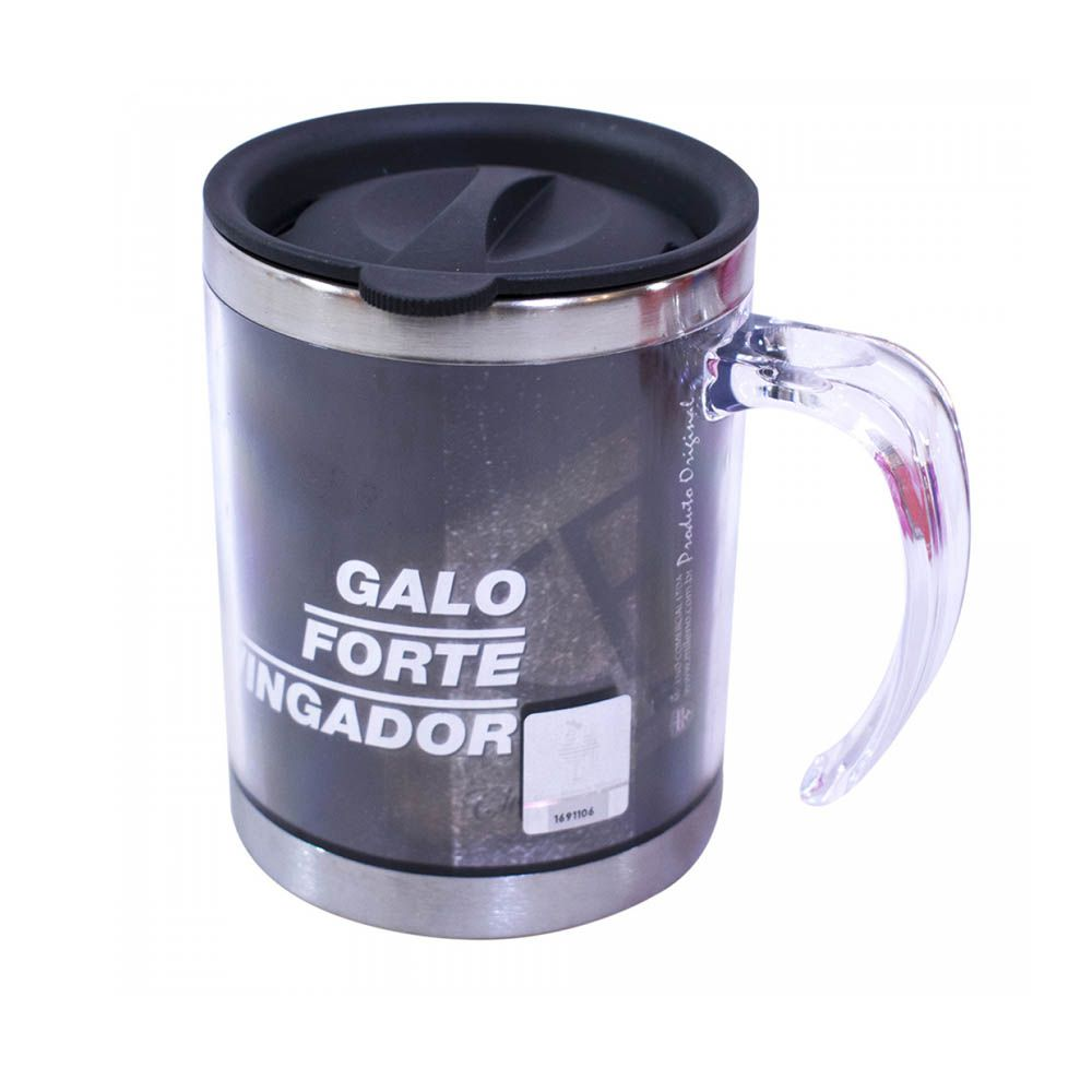 Caneca Térmica com Tampa 450 ml - QH004D - Atlético Mineiro Galo