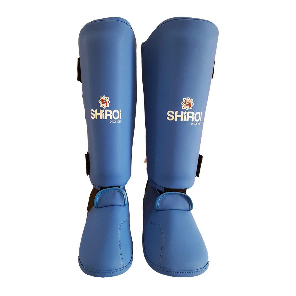 Caneleiras Karate com peito de pé removível- Oficial - Shiroi .  - Loja do Competidor
