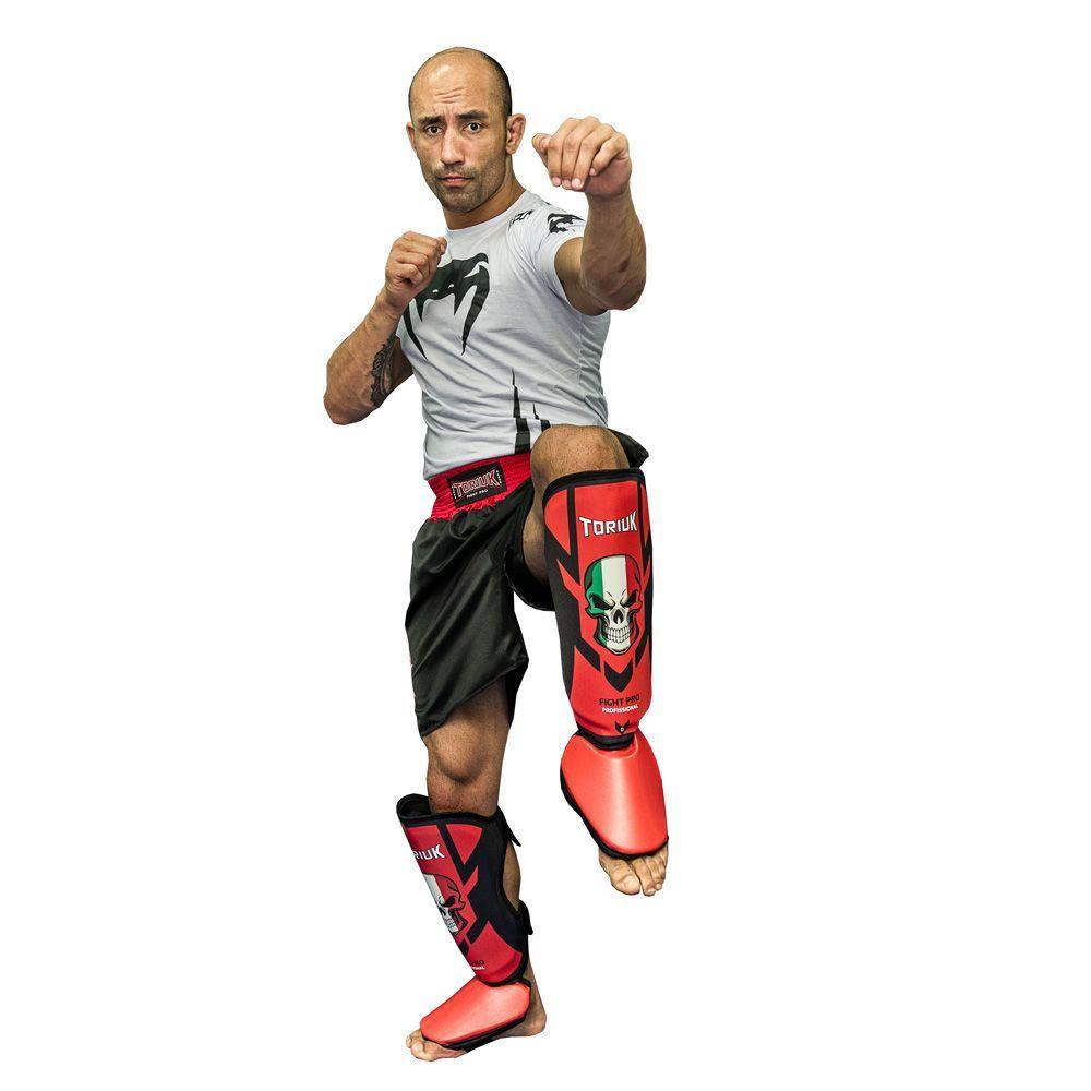 Caneleiras Kick Boxing Muay Thai com Peito de Pé Fixo - Profissional - Armour - Caveira - Toriuk -  - Loja do Competidor