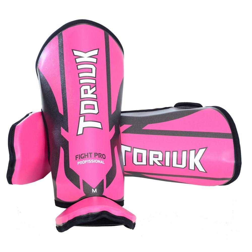 Caneleiras Kick Boxing Muay Thai com Peito de Pé Fixo - Profissional - Armour - Pink- Toriuk -