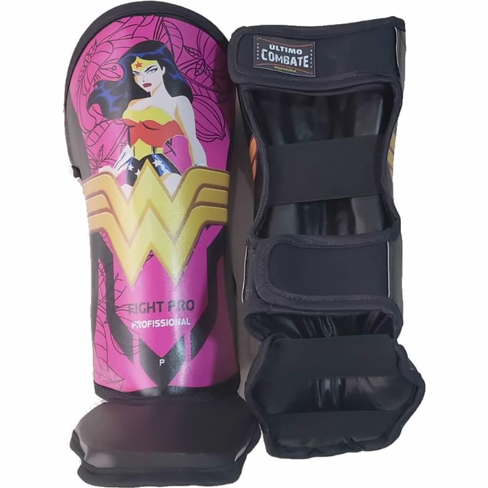 Caneleiras Kick Boxing Muay Thai - Mulher Maravilha - Par  - Loja do Competidor