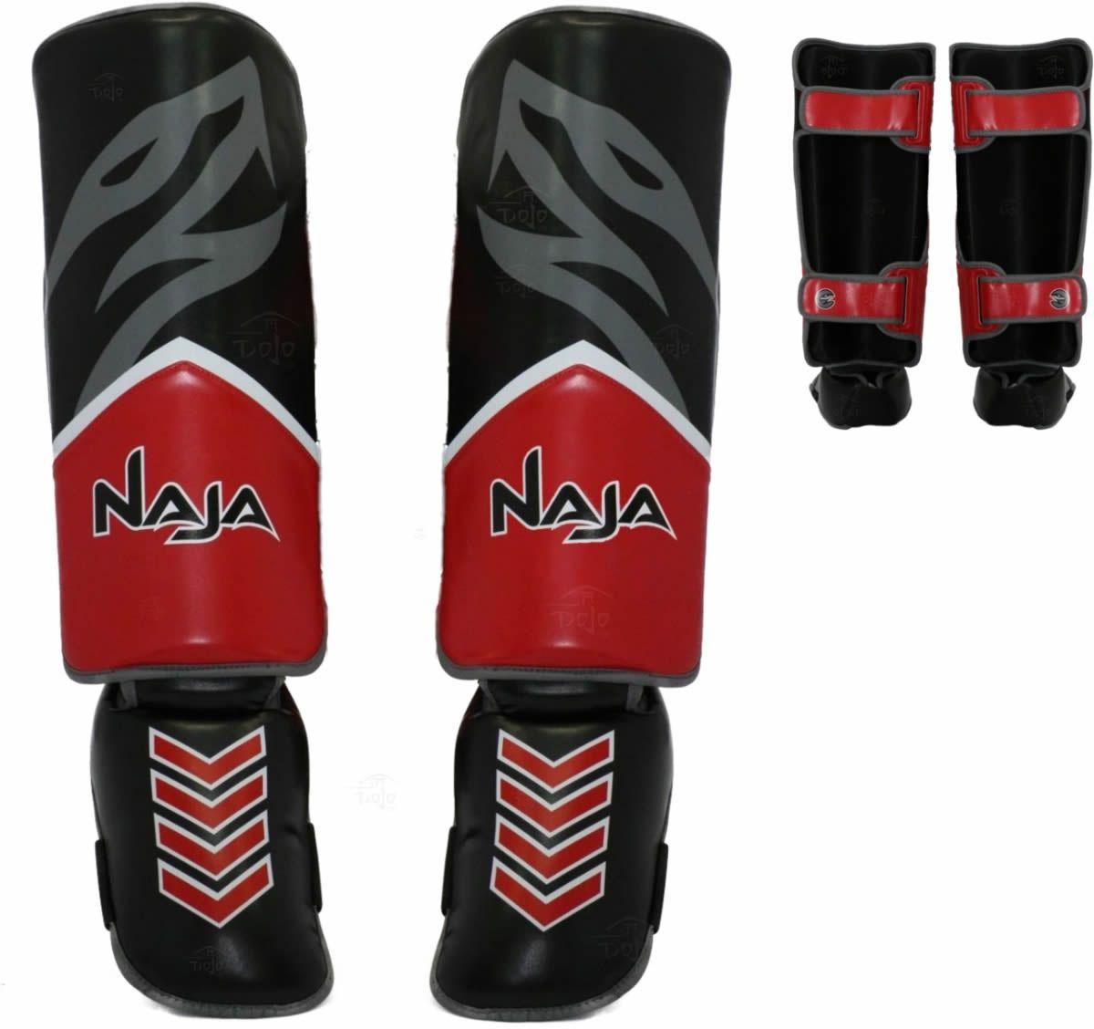Caneleiras Kick Boxing/Muay Thai - Profissional - Naja New Extreme  - Loja do Competidor