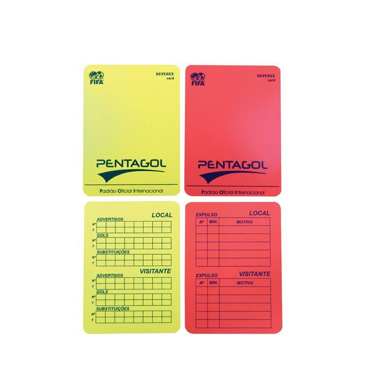 Cartão de Arbitro de Futebol de Campo / Society - Com Lápis e Carteira - Pentagol  - Loja do Competidor