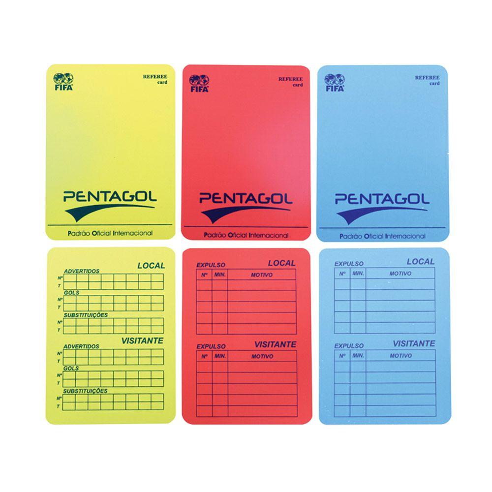 Cartão de Arbitro de Futebol de Futsal - Pentagol  - Loja do Competidor