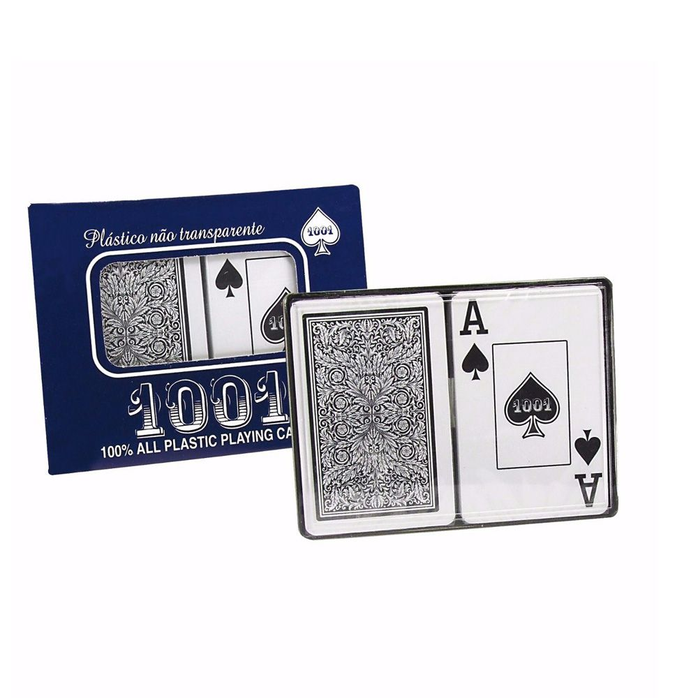 Kit com 2 Baralhos - Cartas de Truco/Poker - Copag 1001 - Plástico - Copag