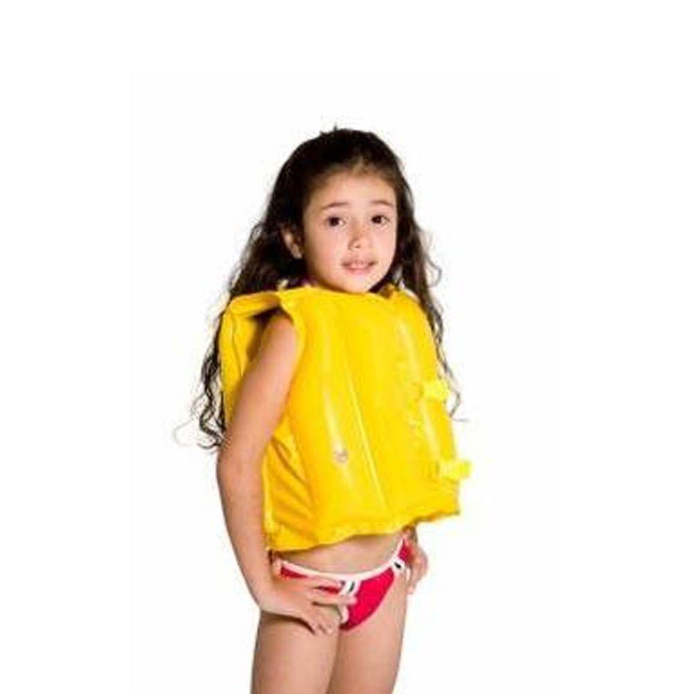 Colete Inflável / Bóia - Natação - 001822 - Amarelo - Infantil - Mor