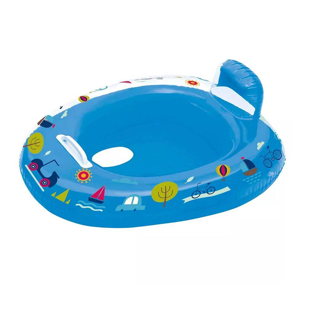 Bote com Fralda - Inflável - Natação - 15 kg- Azul - Mor  - Loja do Competidor