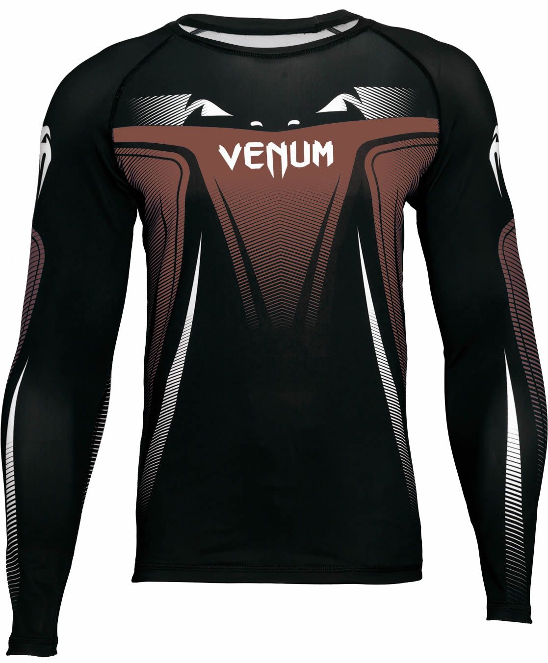Camisa Rash Guard Lycra No Gi IBJJF Approved - Manga Longa - Marrom -  Venum