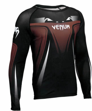 Camisa Rash Guard Lycra Manga Longa 3.0 - Marrom - Venum  - Loja do Competidor
