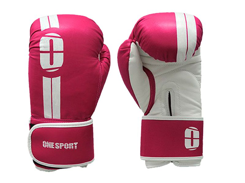 Kit Luvas Boxe / Muay Thai - Elite - One Sport - Rosa- 12/14 OZ .  - Loja do Competidor