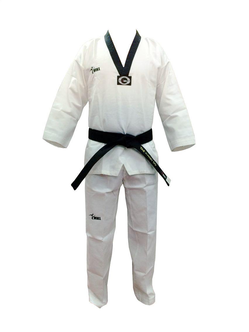 Dobok Canelado Taekwondo Branco - Homologado CBTKD - Adulto - MKL