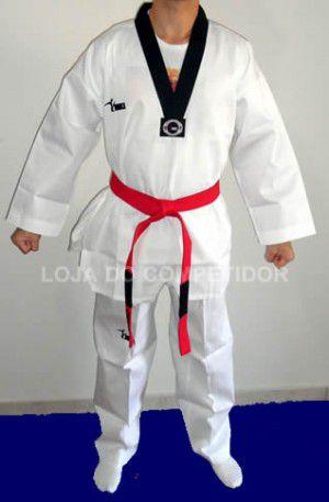Dobok Canelado Taekwondo Branco - Adulto - MKL  - Loja do Competidor