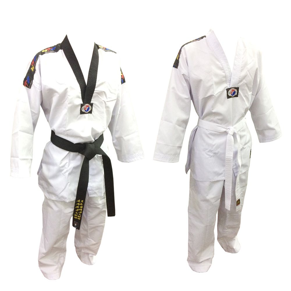 Dobok / Kimono Canelado Olimpic - Taekwondo - Adulto - com Faixa - Sung Ja .