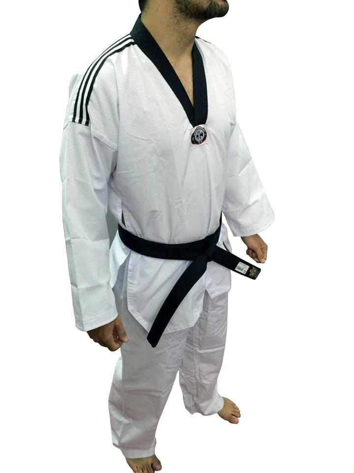 Dobok / Kimono Canelado Olimpic - Taekwondo - Adulto - com Faixa - Sung Ja
