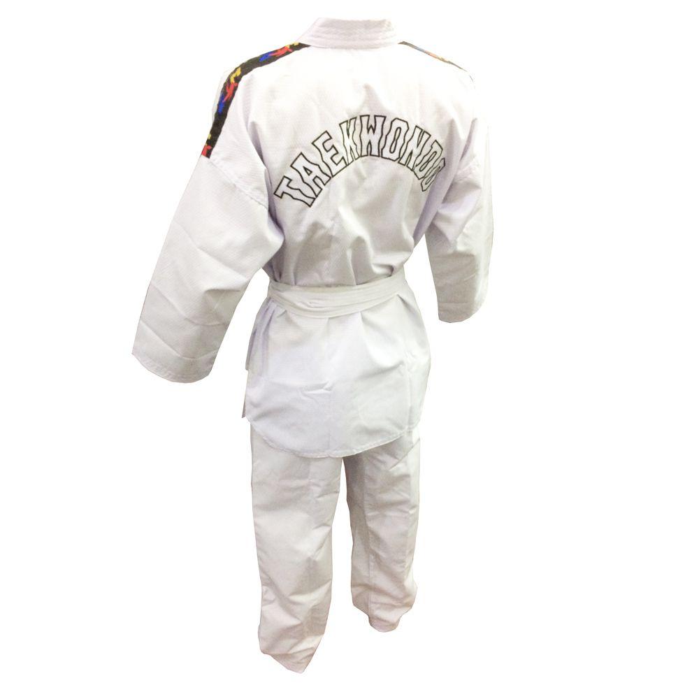 Dobok / Kimono Canelado Olimpic - Taekwondo - Infantil - com Faixa - Sung Ja