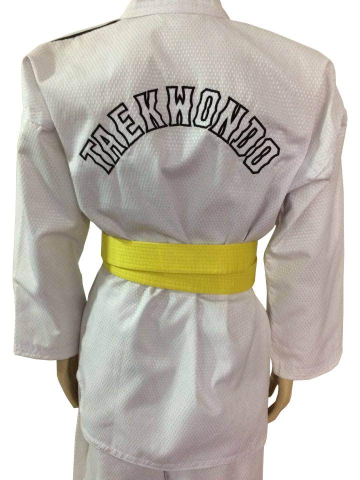 Dobok / Kimono Canelado Olimpic - Taekwondo - Infantil - com Faixa - Sung Ja  - Loja do Competidor
