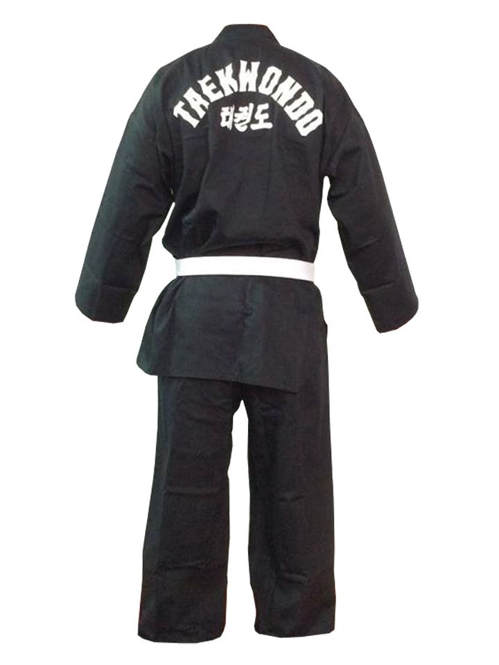 Dobok / Kimono Taekwondo - Brim Leve - Preto - Infantil - Sung Ja