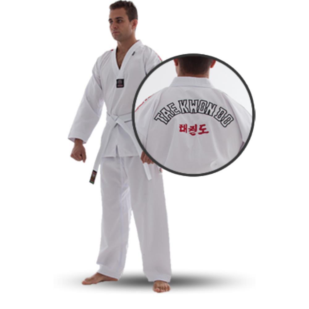 Dobok / Kimono Taekwondo  Canelado - Branco - Adulto - Shiroi