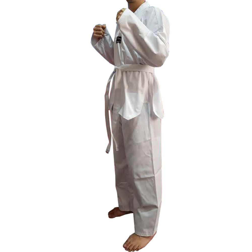 Dobok / Kimono Taekwondo Canelado - Branco - Adulto - Torah  - Loja do Competidor