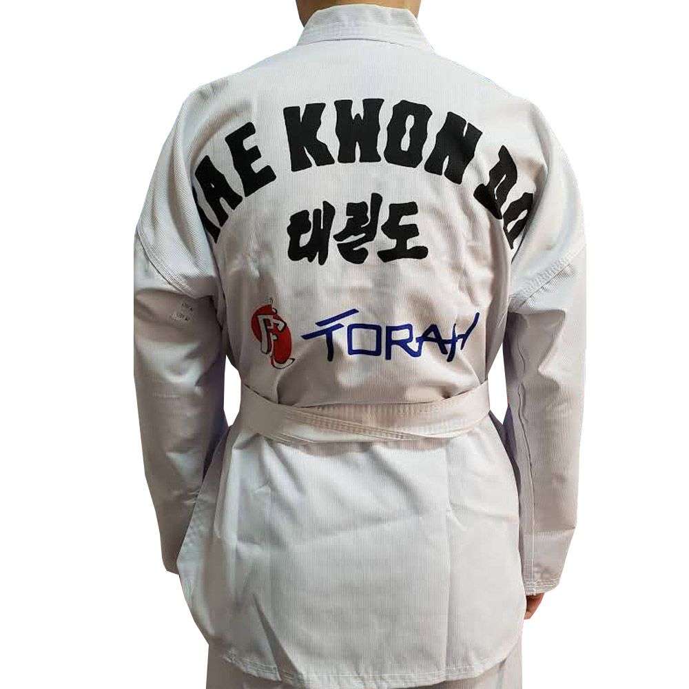 Dobok / Kimono Taekwondo Canelado - Branco - Infantil - Torah  - Loja do Competidor