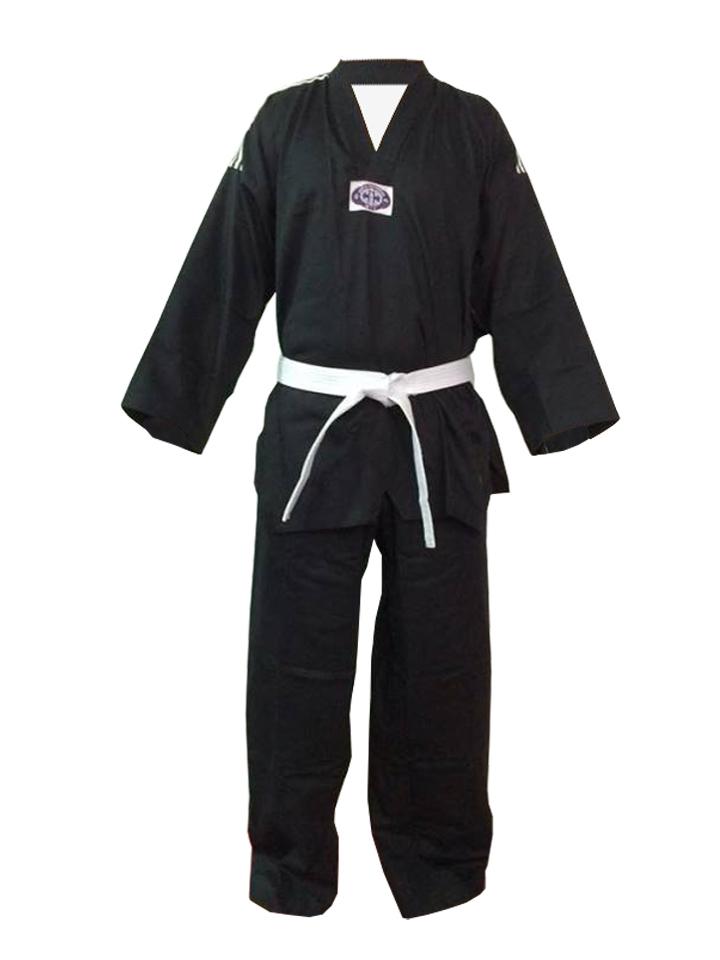 Dobok / Kimono Taekwondo - Brim Leve - Preto - Adulto - Sung Ja