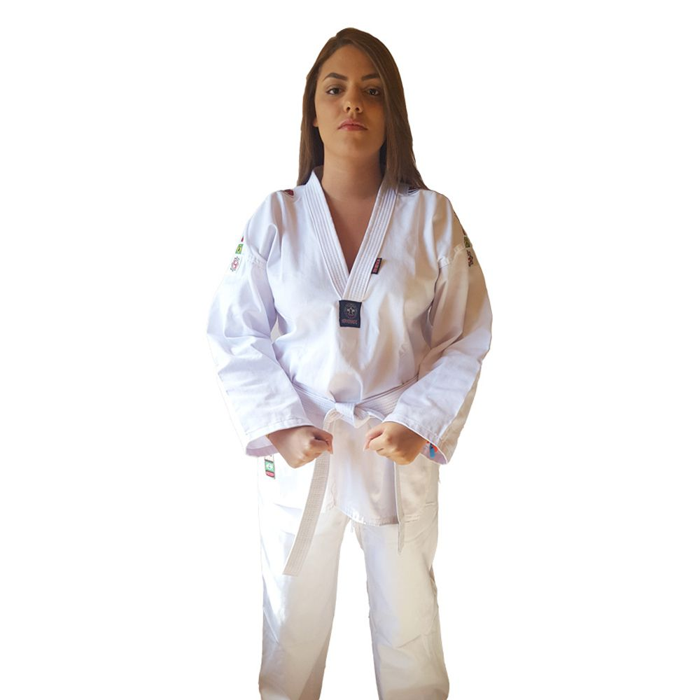 Dobok / Kimono Taekwondo Start - Branco - Adulto - Shiroi - Loja do Competidor