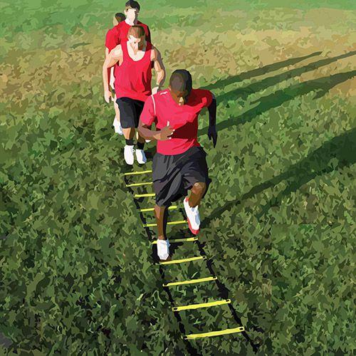 Escada de Agilidade com Degraus Ajustáveis - 4 Metros - Pro Action .  - Loja do Competidor