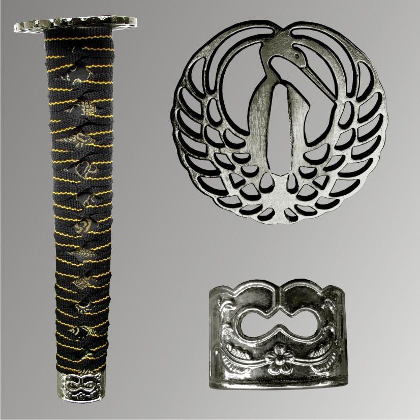 Espada Katana com Suporte de Mesa - Tsuru   - Loja do Competidor