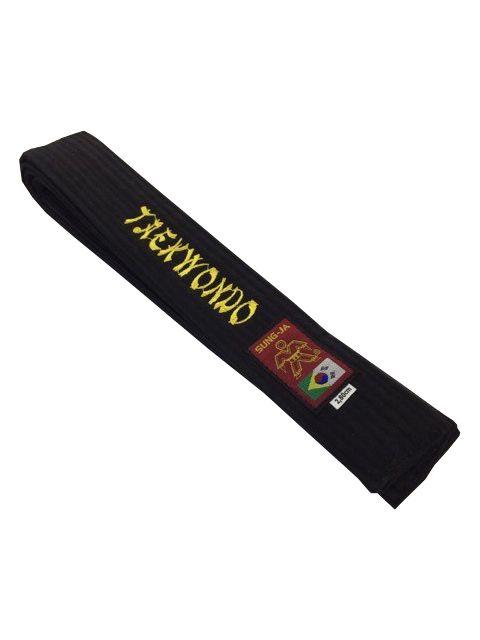 Faixa Preta - Taekwondo - 10 Costuras - Bordada - Sung Ja .  - Loja do Competidor