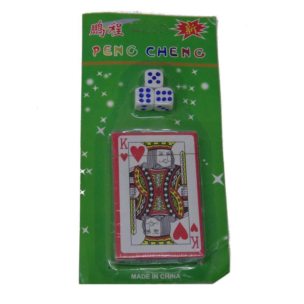 Jogo de Cartas Baralho com 3 dados - SP41643 - Blessed