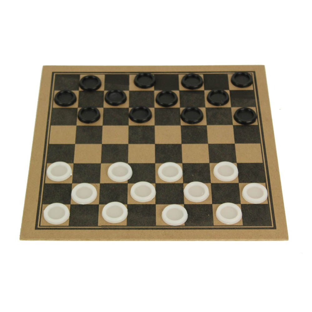 Jogo de Tabuleiro Dama sem Estojo - Madeira - 24 Peças - 2493 - Pentagol