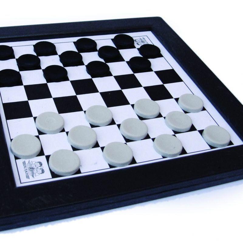 Jogo de Tabuleiro Damas e Trilha - Plástico - Sem Estojo - Grande - Pentagol