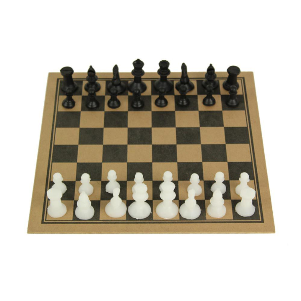 Jogo de Tabuleiro - Xadrez sem Estojo - 32 Peças - Madeira - Pentagol